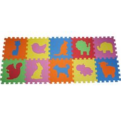 Knorrtoys® Puzzle Tiere, 10 Puzzleteile, Puzzlematte, Bodenpuzzle