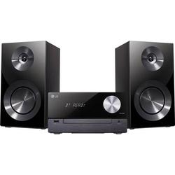 LG Electronics CM2460DAB Stereoanlage Bluetooth®, CD, USB, DAB+, Inkl. Lautsprecherbox 2 x 50W Schw
