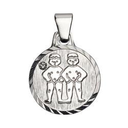 Firetti Sternzeichenanhänger runde Form, diamantiert, mit Kristallstein 3