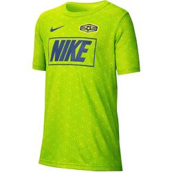 Nike Funktionsshirt BOYS TEE grün Kinder Sport Shirts Sportmode Jungenkleidung T-Shirts