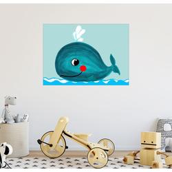 Posterlounge Wandbild, Willfried, der freundliche Wal 90 cm x 70 cm