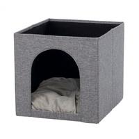 TRIXIE Kuschelhöhle Ella für Regal, 33 × 33 × 37 cm