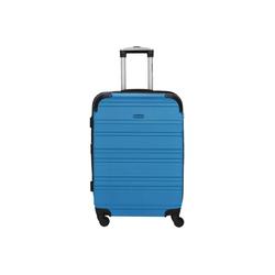 CHECK.IN® Trolley Bern 4-Rollen-Trolley 67 cm, 4 Rollen blau