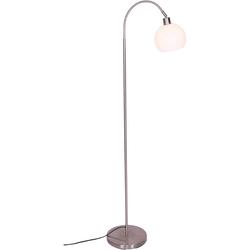 SalesFever Stehlampe Pepe, Lampenschirm aus weißem Milchglas