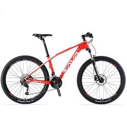 SAVA Mountainbike SAVA DECK2.0 Carbon Mountainbike MTB SHIMANO ALTUS M2000, 27 Gang rot 48 cm