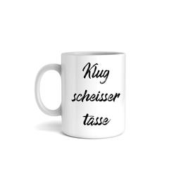 Kreative Feder Tasse, Keramik, Tasse mit Motiv, Keramiktasse, fasst ca. 300ml, Kaffe, Tee, Bürotasse, Büro, Klugscheißer, Humor