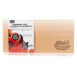 OVERGRILL Grillplatte Premium XXL GRILLBRETT - Räucherbrett aus 100 % nachhaltigem Zedernholz