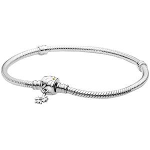 Pandora Silber Damen-Armband Moments Schlangenkette Gänseblümchen 598776C01, 18 cm