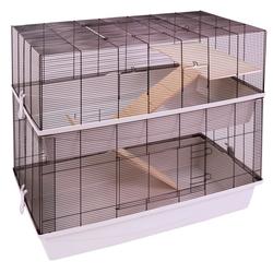 Mäuse- und Hamsterkäfig CARLOS mit 2 Etagen und 7 mm Verdrahtung