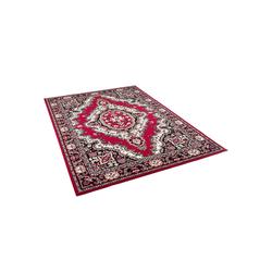Orientteppich Orient Teppich Trendline Rot Keshan, Pergamon, Rechteckig, Höhe 8 mm 80 cm x 150 cm x 8 mm