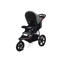 COSTWAY Kinder-Buggy Jogger Buggy Sitzbuggy Babybuggy Kinderwagen, zusammenklappbar, mit Liegefunktion, für Baby ab Geburt bis 36 Monate grau