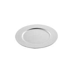 HTI-Living Dekoteller Dekoteller Glitter Silber (1 Stück) silberfarben