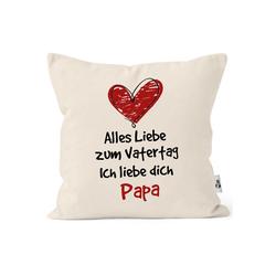MoonWorks Dekokissen Kissen-Bezug Spruch Alles Liebe zum Vatertag Geschenk Papa Vatertagsgeschenk Deko-Kissen MoonWorks® natur