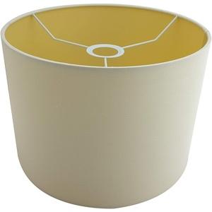 Lampenschirm creme rund Stoff E27 Ø 35cm modern, Ersatzschirm Tischlampe Stehlampe Hängelampe, 79828 Crema Sompex