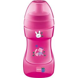 MAM Trinkflasche Trinkflasche Sports Cup, PP, 330 ml, grün/gelb rosa