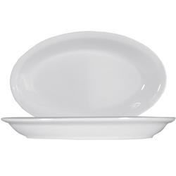 15 x Roma Uni weiß Platte oval 27cm * Saturnia
