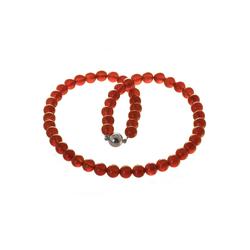 Bella Carina Perlenkette Karneol 8 mm, Karneol 8 mm 50 cm