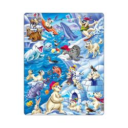 Larsen Puzzle Rahmen-Puzzle, 36 Teile, 36x28 cm, Arktisches Eis, Puzzleteile