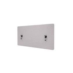 MCW Stellwand MCW-G75, Büro-Sichtschutz, Pinnwand, doppelwandig, Inkl. Anbringungen, Schalldämmend grau 60 cm x 120 cm x 2 cm