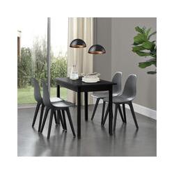 Set de 2 Chaises Design Chaise de Cuisine Chaise de Salle à Manger Plastique Gris et Noir 83 x 54 x
