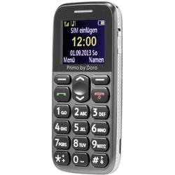 Primo by DORO 215 Senioren-Handy mit Ladestation, SOS Taste Grau
