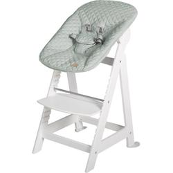 roba® Hochstuhl Treppenhochstuhl 2-in-1 Set Style, Born Up, mit Neugeborenen-Aufsatz weiß