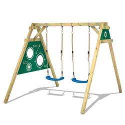 Wickey Doppelschaukel Schaukelgestell Smart Score - Schaukel, Schaukelgerüst, Kinderschaukel, Holzschaukel grün