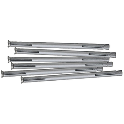 RORO TÜREN & FENSTER Dübel-Set Metall, 152 mm, 6 Stück grau