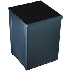 Papierkorb 20l quadratisch Kunststoff mit Griffrand schwarz