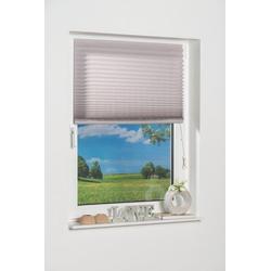 Plissee COMO, K-HOME, Lichtschutz, freihängend grau 110 cm x 130 cm