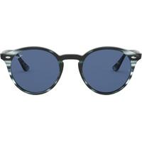 51mm striped blue havana / classic dark blue