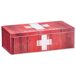 ZELLER Medizinschrank Medizin-Box, 26,2x13,8x8,2 cm rot