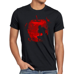style3 Print-Shirt Herren T-Shirt Shinigami Apfel death manga anime note 4XL