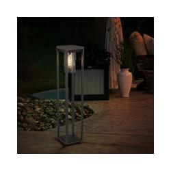 Lámpara de pie filamento ALU negro -matt foco de jardín decoración base soporte exterior lámpara