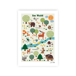 byGraziela Poster Poster Tier ABC, 50 x 70 cm grün