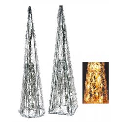 Leuchtpyramide aus Acryl mit 35 Lichtern - Weihnachtsbeleuchtung Lichtpyramide