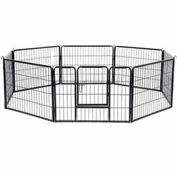FEANDREA Welpenfreigehege Hundegehege Freilaufgehege 80x60cm, 8 Elemente a 80x60 cm