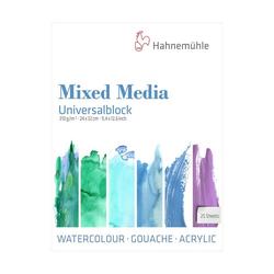 Hahnemühle Aquarellpapier Universalblock 24X32cm 25 Blatt, für Watercolour, Gouache, Acryl