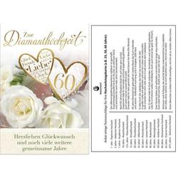 Diamantene Hochzeitskarte   inkl. Umschlag