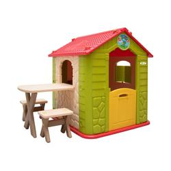 LittleTom Spielhaus Kinder Spielhaus ab 1 - Garten Kinderhaus mit, LxBxH: 104 cm x 95 cm x 118 cm