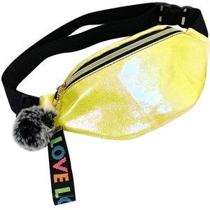 VJGOAL Damen Bauchtasche, Frauen Herren Unisex Sport Laufen Fitness Schulter Messenger Bag Pailletten Bauchtasche Umhängetasche (U Gelb, One Size)