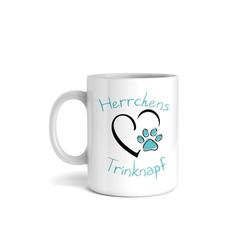 Kreative Feder Tasse, Keramik, Tasse mit Motiv, Keramiktasse, fasst ca. 300ml, Kaffe, Tee, Bürotasse, Büro, Trinknapf, Haustier, Katze, Hund, Pfote, Herz, Frauchen, Herrchen