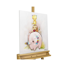 KUNSTLOFT Gemälde 3 of a Kind, handgemaltes Bild auf Leinwand