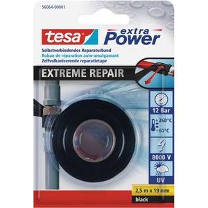 TESA 56064-01-00 56064-01-00 Reparaturband Schwarz (L x B) 2.5m x 19mm 2.5m
