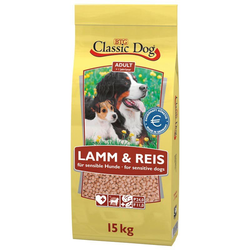 Classic Dog Trockenfutter Adult Lamm & Reis, 15 kg