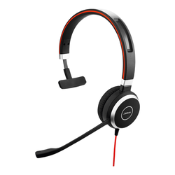 Jabra Evolve 40 Headset, Mono, USB, 3,5mm Klinke, Optimiert für Skype for Business