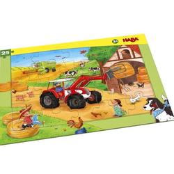 HABA 304655 - Rahmenpuzzle, Landmaschinen, Traktor,, Kinderpuzzle
