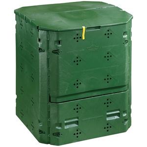 Dehner Thermokomposter 420 Liter, ca. 84 x 74 x 74 cm, Kunststoff, grün