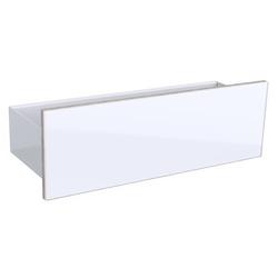 Geberit Wand-Board ACANTO 450 x 148 x 159 mm matt sandgrau, Front Glas sandgrau