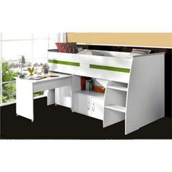 Parisot Multifunktionshochbett mit Schreibtisch